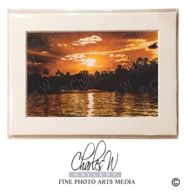Charles W Frameable Photo Art Card - Birch Sunset Ft Lauderdale