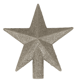 Kurt Adler Mini Christmas Star Tree Topper 4 Inch Silver Petite Treasures