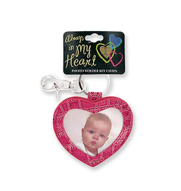 DM Merchandising Key Chains AIMH-PKC-A Heart Photo Holder Keychain