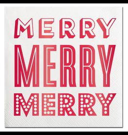 Slant Christmas Cocktail Napkins 20ct Merry Merry F155305 Slant