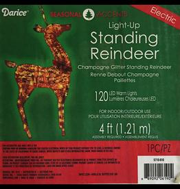 Darice Standing Reindeer Light Up 4FT FLOOR DISPLAY $65 FINAL SALE