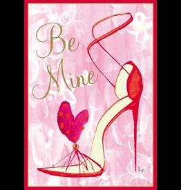 Caspari Valentine's Day Card 83415.14 Stiletto Be Mine Valentine Card