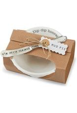 Mud Pie Circa Pedestal Dip Bowl W Spreader Set Dip Dip Hooray