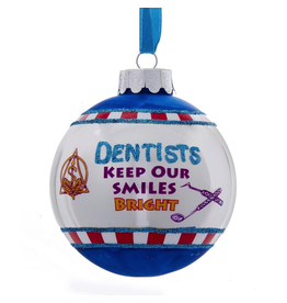Kurt Adler Christmas Ornament Dentist Keep Our Smiles Bright