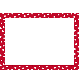 Caspari Name Tags Self Adhesive Labels 12pk Small Dots Red