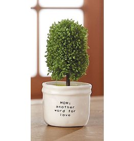 Mud Pie Faux Boxwood Topiary In Mini Pot MOM Is Another Word For Love