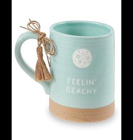 Mud Pie Sea Coffee Mugs 16oz Feeling Beachy