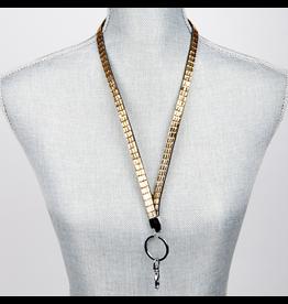 Jacqueline Kent Jewelry Crystal Bling Lanyard Champagne Gold Crystal JKLY007CH Jacqueline Kent Jewelry