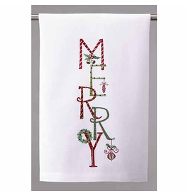 Peking Handicraft Christmas Towel Merry Kitchen Towel 16x25