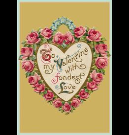 Caspari Valentine's Day Card 82407.14 With Fondest Love Valentine Card