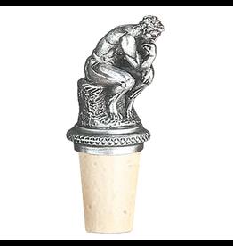 Heritage Pewter Wine Bottle Stopper The Thinker