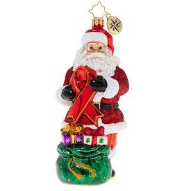 Christopher Radko Red Ribbon AIDS Awareness Santa Christmas Ornament