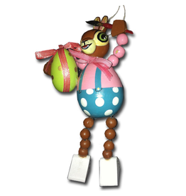 Department 56 Artist Easter Bunny w Paint Brush and Egg