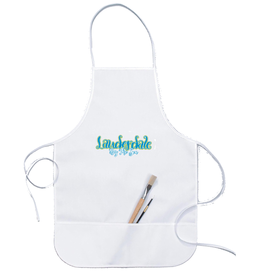 Darice Lauderdale By The Sea White Cotton Canvas Adult Apron W Pockets