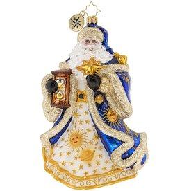 Christopher Radko Celestial Santa Christmas Ornament