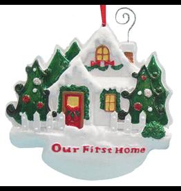 Kurt Adler Christmas Ornament first Home Our First Home Ornament