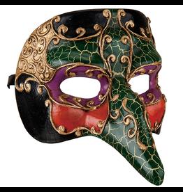 Gallerie II Mardi Gras Halloween Witch Mask 6x8x5 Inch
