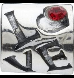 Chamilia Charm Love w Stone Silver Bead JA-16
