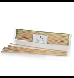 Thymes Reed Refills Frasier Fir Natural Replacement Diffuser Sticks 14pk