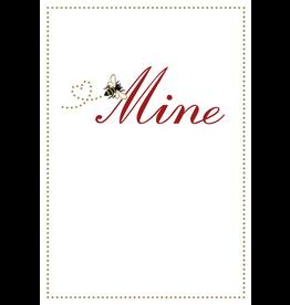 Caspari Valentine's Day Card 83400.14 Be Mine Embossed Valentine Card