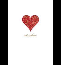 Caspari Valentine's Day Card 82442.14 Sweetheart Valentine Card