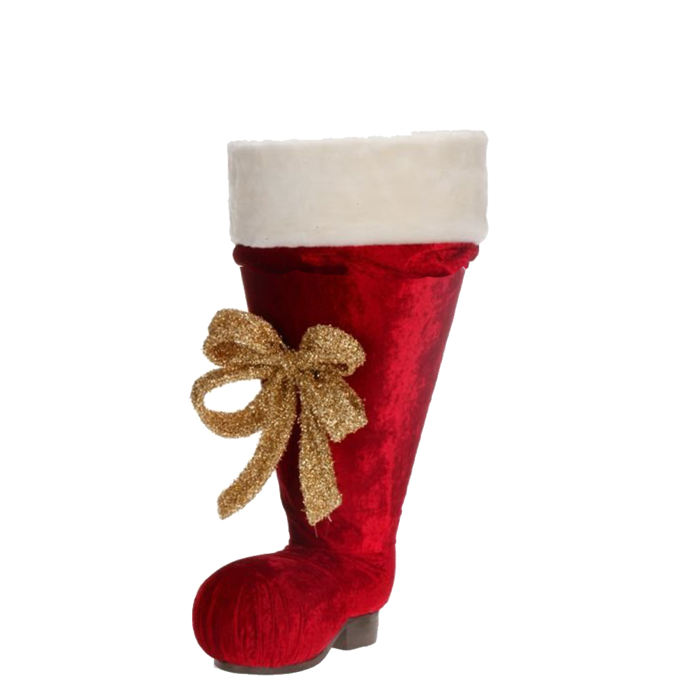 Large Santa Boot Christmas Decoration