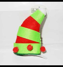 DM Merchandising Mini Santa Elf Christmas Hat Hair Clip - E