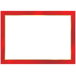 Caspari Name Tags Self Adhesive Labels 12pk Red Foil