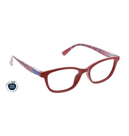Peepers Reading Glasses Lore Blue Light Red Folklore +2.00