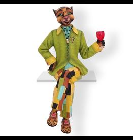 Alley Cats Margaret Le Van Fabulo Style Guru - Male Cat Figurine