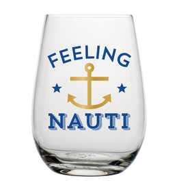 Slant Stemless Wine Glass 20oz F146708 Feeling Nauti