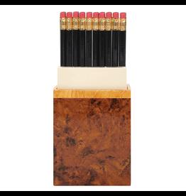 Caspari Desk Accessories Pencil and Paper Caddy B1319 Burlwood Design