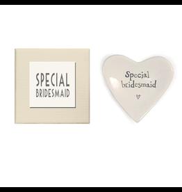 East of India Porcelian Heart Dish Keepsake w Special Bridesmaid E2081 East of India