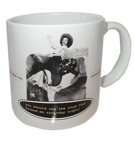 MikWright Greeting Cards Coffee Mug You Should of Seen the Stud that Bucked Me Saturday Night