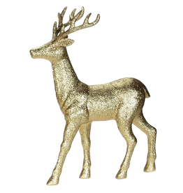 Mark Roberts Christmas Decorations Gold Deer Table PIece 18 inch B