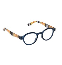 Peepers Reading Glasses Style Sixteen Navy Stripe +3.00