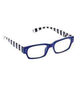 Peepers Reading Glasses Hey Sailor Blue Stripe +2.25