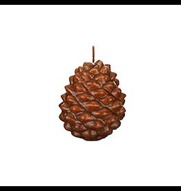 Vietri Pine Cone Candle 3.5H Brown