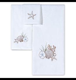 C & F Enterprises Shells Starfish Sand Dollar Bath Towels Set w Bath Hand n Tip