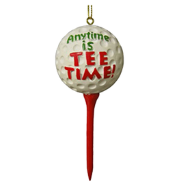 Kurt Adler Golfers Ornament Golf Ball Anytime is Tee Time W2005-A