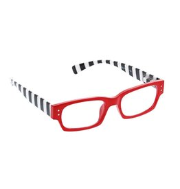 Peepers Reading Glasses Hey Sailor Red Stripe +2.75