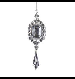 Kurt Adler Gem Drop Ornament Silver Rectangle D1819-B Kurt Adler