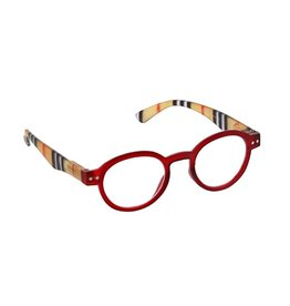 Peepers Reading Glasses Style Sixteen Red Stripe +2.25
