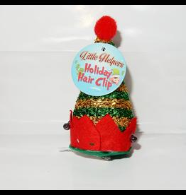 DM Merchandising Mini Santa Elf Christmas Hat Hair Clip - J