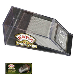 ESPN Poker Club Card Games 4-Deck Acrylic Dealer Shoe