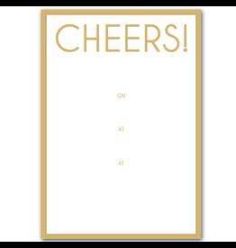 Caspari Party Invitations Cheers Invites 8pk