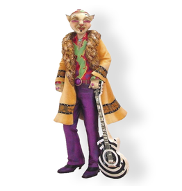 Alley Cats Margaret Le Van String Male Cat Figurine Guitar Player