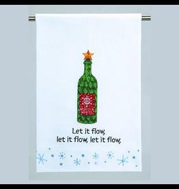 Peking Handicraft Christmas Kitchen Guest Towel Let it Flow 16x25