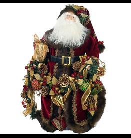 Kurt Adler Porcelain Santa Christmas Table Piece 23inch J0986
