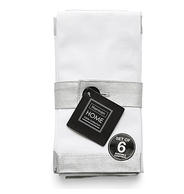 Harman Silver Metallic Bordered Napkins Set of 6